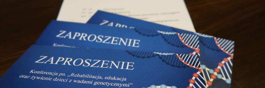 """Zapisy na konferencję – """"Rehabilitacja, edukacja oraz żywienie dzieci z wadami genetycznymi"""""""