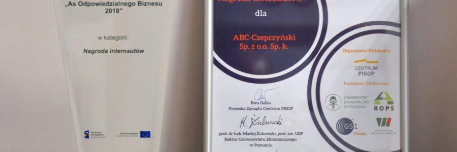 ABC-Czepczyński z Nagrodą Internautów.