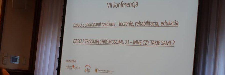 Wczoraj uczestniczyliśmy w konferencji poświęconej trisomii chromosomu 21.
