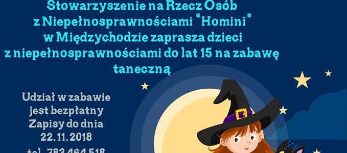 """Zapraszamy dzieci z niepełnosprawnościami do lat 15 do udziału w zabawie tanecznej pn. """"Andrzejkowe balety""""."""